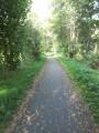 Le chemin de halage sur la Voie verte